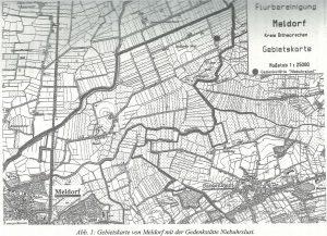 Gebietskarte von Meldorf mit der Gedenkstätte Niebuhrslust.